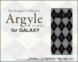 全面ガラスフィルム付 GALAXY Note8 [SC-01K/SCV37] スマホ ケース アーガイル 雑貨 メンズ レディース プレゼント gan8-gf-argyle002