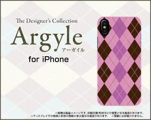 液晶全面保護 3Dガラスフィルム付 カラー:白 iPhone X スマホ ケース アーガイル 雑貨 メンズ レディース ipx-3dtpu-wh-argyle006
