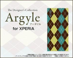保護フィルム付 XPERIA XZ [SO-01J SOV34 601SO] TPU ソフト ケース  アーガイル 雑貨 メンズ レディース xpexz-ftpu-argyle001