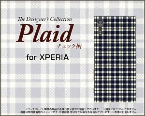 XPERIA XZ [SO-01J SOV34 601SO] 保護フィルム付 スマートフォン ケース docomo au SoftBank チェック 雑貨 メンズ xpexz-f-plaid001