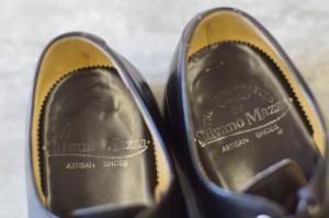 ○シルバノマッツァ Silvano Mazza コードバン Uチップ カジュアルシューズ メンズ 中古