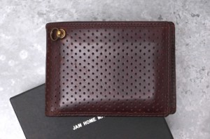 1386c8a767fb ジャムホームメイド JAM HOME MADE JNS554BR PUNCHING MEDIUM WALLET -CHROMEXEL ホーウィン社クロム