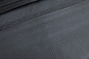 ○印傳屋 印伝 INDEN-YA 漆塗り 鹿革 ディアスキン 札入れ 長財布 メンズ 中古
