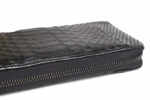 ○ディケード DECADE DCD-00315R ラウンドジップ ラウンドファスナー パイソンレザー 長財布 メンズ 中古