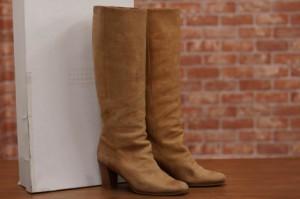 ○マルタンマルジェラ マルジェラ Maison Martin Margiela ロングブーツ tan replica boots ブーツ レディース 中古