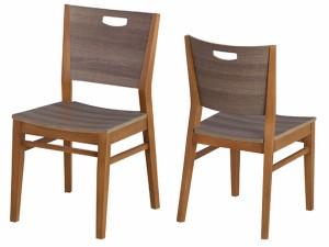 ダイニングチェア 椅子 天然木 ブルーノ 座面高46cm ( チェアー イス 天然木製 木製 )