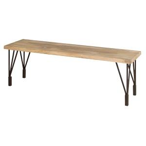 ダイニングベンチ 2人掛け 天然木座面 ANT 幅140cm ( 長椅子 )