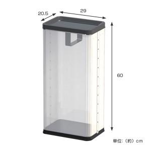 中身の見えるゴミ箱 角型ロータリー屑入(中) ( 分別 ダストボックス )