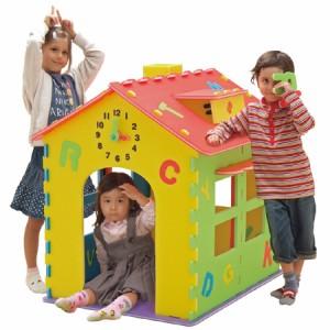 プレイハウス ABCハウス 組み立て キッズハウス ( おもちゃ 家 )