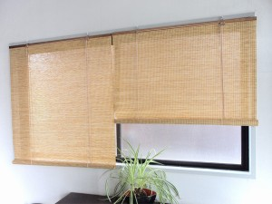ロールスクリーン すだれ調 紙スクリーン 88×180cm ( 日よけ )