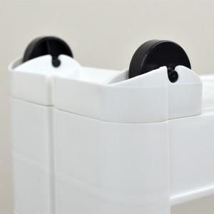 キッチン隙間収納 キッチン収納 スリム スマートワゴン 幅12.5cm 奥行55cm 4段 組立式