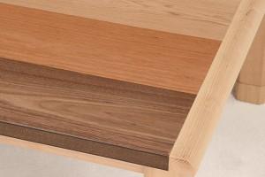 家具調こたつ 座卓 長方形 継ぎ脚 3色突板 シリウス2 幅120cm ( 継ぎ足し ストライプ アッシュ チェリー ウォールナット )