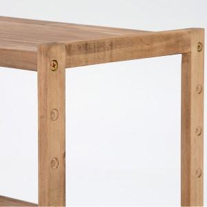 オープンラック 木製 4段 ウッドプロダクツ 幅75cm ( ディスプレイラック カントリー 桐 桐製 )