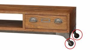 テレビ台 ローボード キャスター付 ミッドセンチュリー リベルタ 幅100cm ( TV台 AVボード )