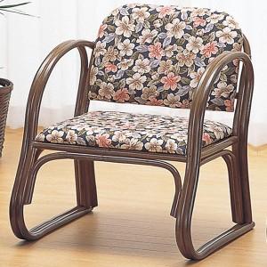 籐[ラタン] 思いやり座椅子 ミドルタイプ【S212B】