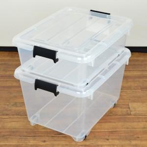 衣装ケース クローゼット収納 コロ付き 幅38.5×奥行50×高さ17cm 浅型 フタ付き 3個セット