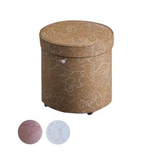スツール 収納付 丸型 トゥーン 直径33cm ( 送料無料 収納 ボックス 椅子 イス 収納ボックス かわいい カラフル オットマン おしゃ