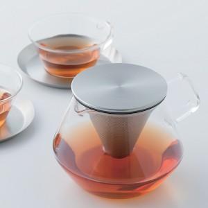 ティーポット CARAT 600ml 耐熱ガラス製 ( 茶こし付 ステンレス KINTO キントー )