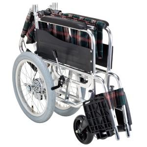 車いす 介助式 背折れタイプ 低床 座面幅42cm 非課税 ( 介護 )
