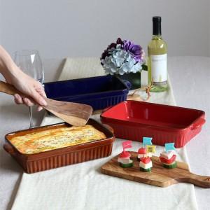 ラザニア皿 28cm 洋食器 スクエア ギャザー ( 大皿 陶器 電子レンジ オーブン グラタン グラタン皿 ラザニア 食器 器 皿 オーブンウ