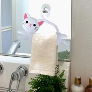 ねこのタオルハンガー タオル掛け ねこのしっぽ
