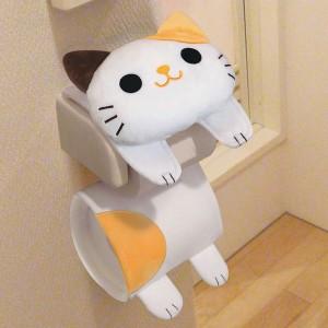 トイレ ペーパーホルダーカバー ねこのしっぽ ( ルダーカバー )