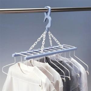洗濯ハンガー ナイスワン 回転グリップ付き 10連ハンガー 折りたたみ