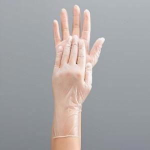 調理用手袋 調理につかえる ビニール手袋 極薄タイプ Mサイズ 粉付き 100枚入り