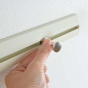 壁掛け スリム レールフック 約 幅80cm レール ハンガーフック 石膏ボード用