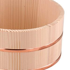 洗面器 湯おけ 木製 平輪