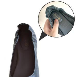 携帯スリッパ 携帯シューズ プリエ リボン ブラック