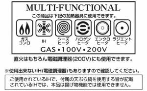 片手天ぷら鍋 20cm IH対応 揚げクック 温度計付き