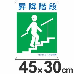 建災防 統一安全標識 「昇降階段」 小 45x30cm