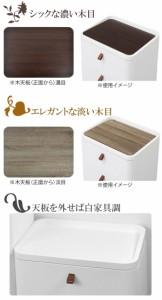 チェスト タンス リバーシブル 木製天板 アースホワイト 3段 幅54cm 完成品 日本製 ( 引き出し 引出し )