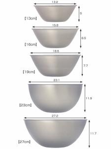 柳宗理 ステンレスボール ボウル 5個セット 13cm・16cm・19cm・23cm・27cm ( キッチンツール )