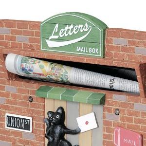 郵便ポスト カスタマイズポスト Brooklyn Street セット ( メールボックス 新聞受け 動物 アニマル )
