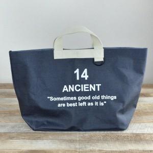エコバッグ ANCIENT コーティングトートバッグ L 14 ( レジャーバッグ )