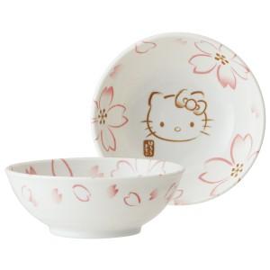 小鉢 HelloKitty 和風 ハローキティ 手書き風さくら 陶器 食器
