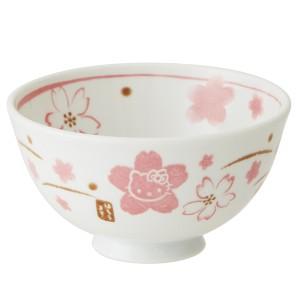 茶碗 HelloKitty 和風 ハローキティ 手書き風さくら 陶器 食器 ( ご飯茶碗 お碗 )