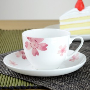 カップ&ソーサー 桜 コーヒーカップ ボーンチャイナ 食洗機対応