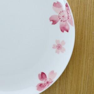 深皿 桜 深型プレート 22cm ボーンチャイナ 食洗機対応