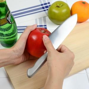 卓上包丁 シェルビー 小型三徳包丁 食洗機対応 一体型包丁