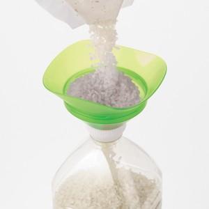 ろうと 米びつろうと 米量り付き ペットボトル用