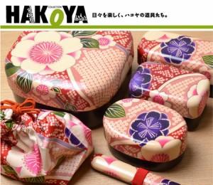 お弁当箱 ランチボックス HAKOYA 布貼小判コンパクト弁当 415ml 2段 桜ピンク