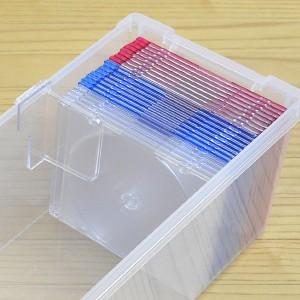 CD収納ケース いれと庫 CD用 ライト 18個セット ( フタ付き )