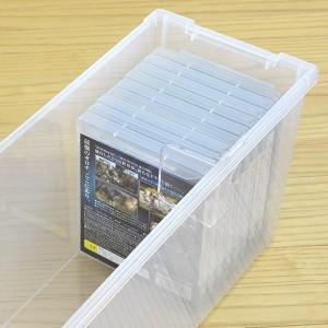 DVD収納ケース いれと庫 DVD用 ライト 18個セット ( フタ付き )