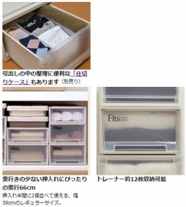 収納ケース Fits フィッツ フィッツケース ミドル 引き出し プラスチック 4個セット ( 押入れ収納 )