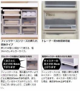 収納ケース Fits フィッツ フィッツケース スリム 引き出し プラスチック 2個セット ( 押入れ収納 )