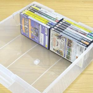 DVD収納ケース いれと庫 DVD用 ワイド 8個セット ( フタ付き )