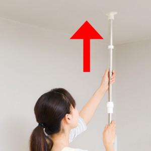 室内物干し PORISH 突っ張り式物干し窓枠用 ステンレス ( つっぱり ステンレス製 )